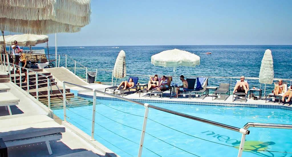 Beach clubs Sliema, Malta (foto met dank aan beach club MedAsia)