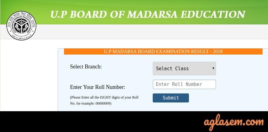 UP Board Madarsa Result 2019