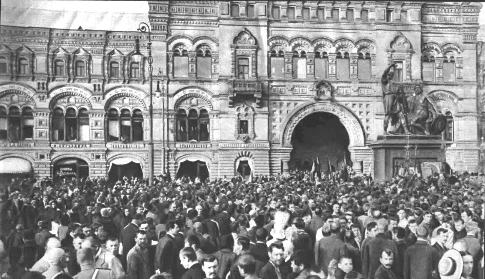 На Красной площади в ожидании прибытия Государя