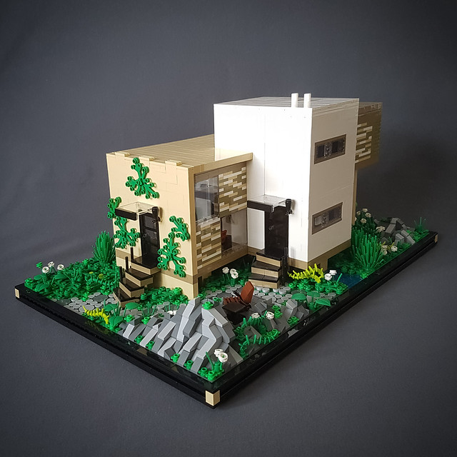 Checkered Tan House MOC IV