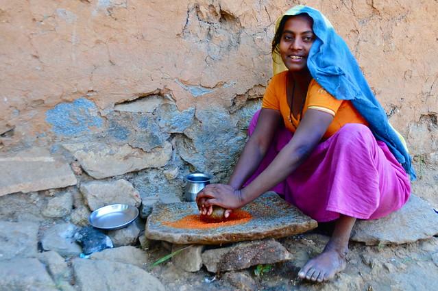India- Gujarat- Adiwasi village near Poshina