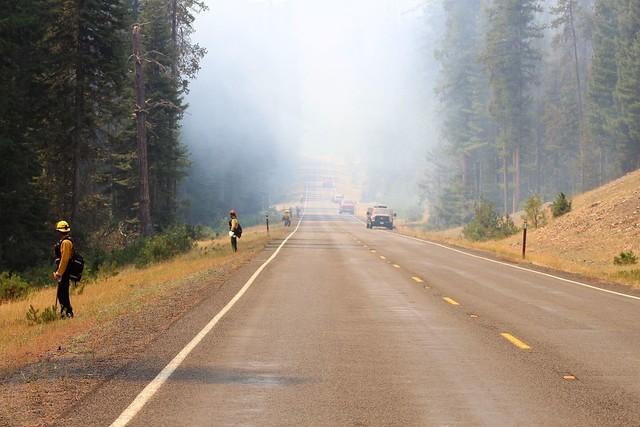 A smoky road