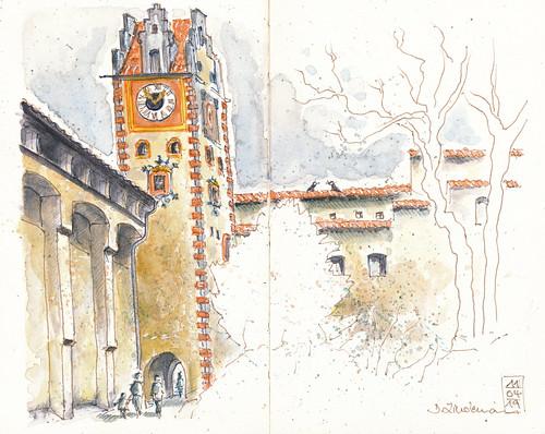 Füssen, Torturm des Hohen Schlosses