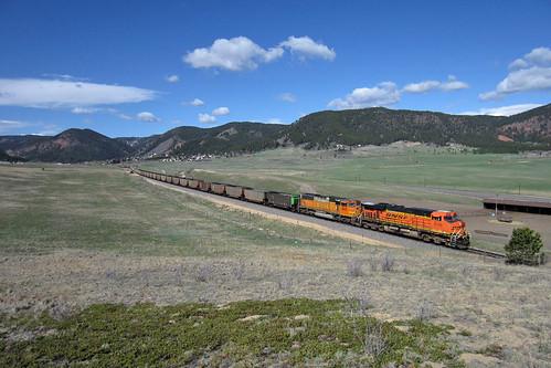 bnsf bnsf6165 ge generalelectric es44ac palmerlake colorado jointline rampartrange palmerdivide greenlandopenspace train railroad