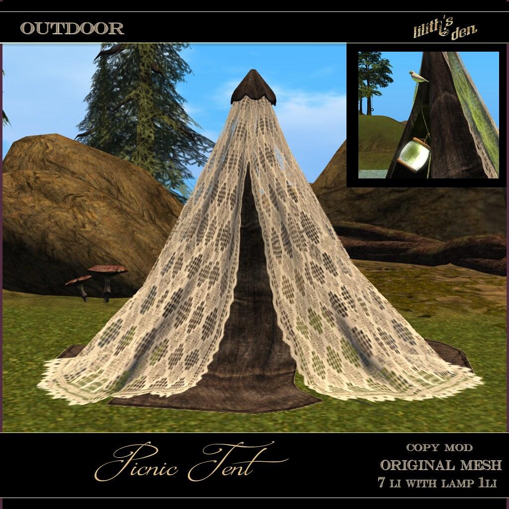 Lilith's Den –  Picnic Tent