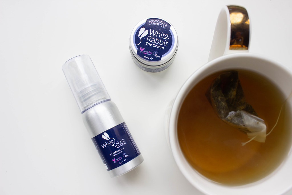 White Rabbit Skincare 'It's All About M.E' night cream and carrot seed eye cream.