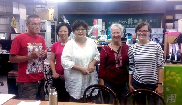 Taipei community college volunteers and teachers