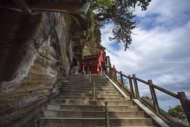 Stone steps, At Cliff Kannondō