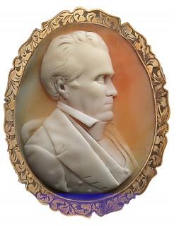 cameo of President Polk by Salathiel Ellis