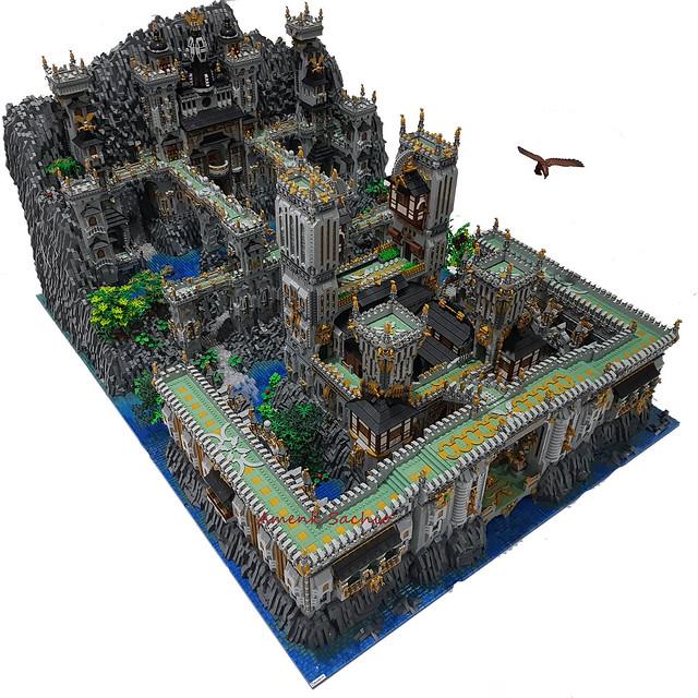 #lego #legocastle #castlefantasy #legoart #bhinnekalug #legomoc #moccastle
