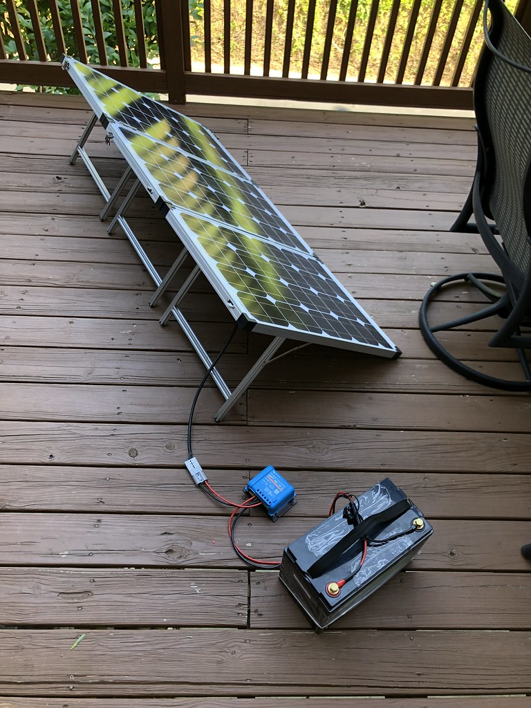Taxa Cricket Solar Setup…. 100AH LifePo4 battery