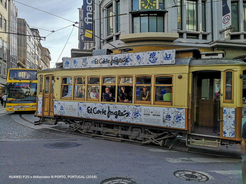 2018 Portugal Porto Tram With Blue Tiles