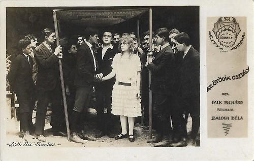 Ila Loth and Ernö Verebes in Az ötödik osztály (1920)