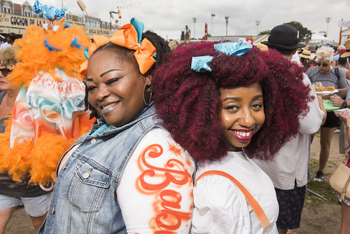 Wild Tchoupitoulas Baby Dolls at Jazz Fest day 6 on May 3, 2019. Photo by Ryan Hodgson-Rigsbee RHRphoto.com