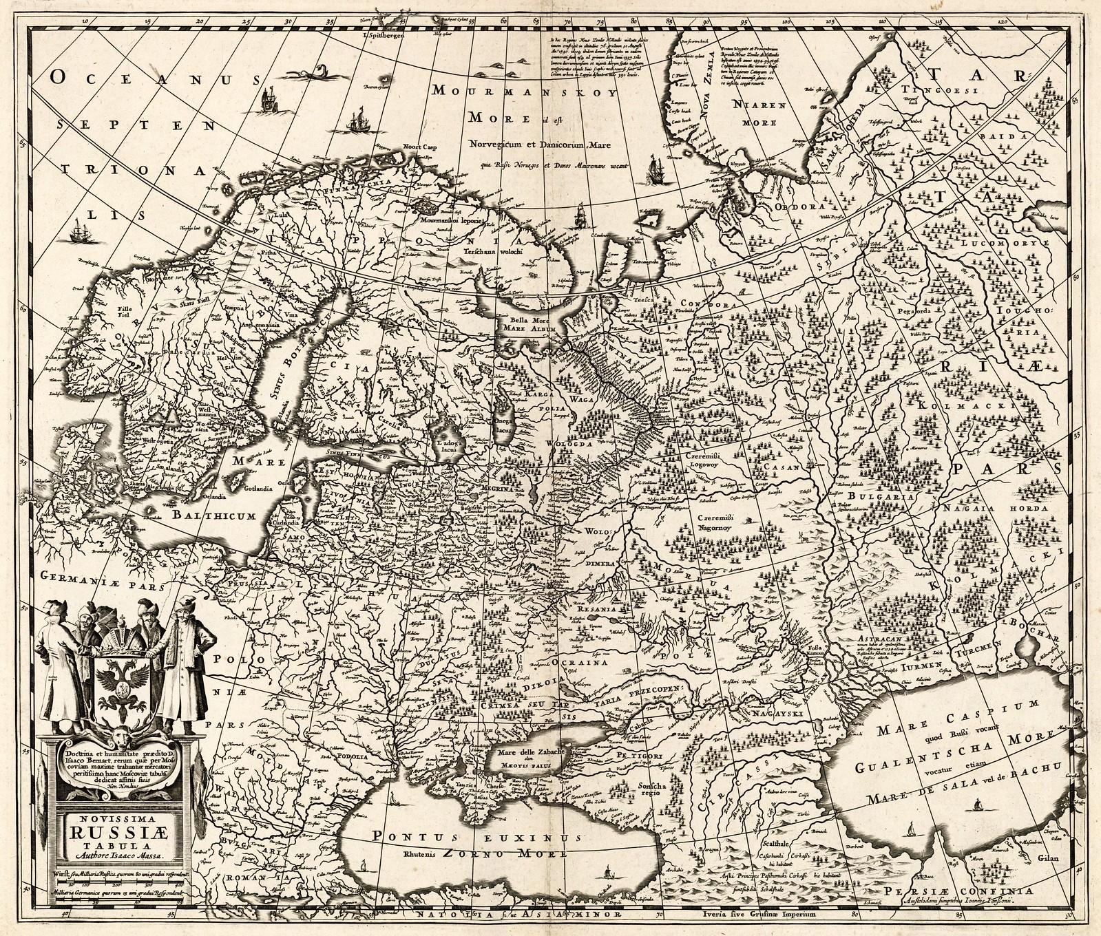1637. Новая карта России