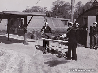 Patient arriving at USN Creevagh Hospital