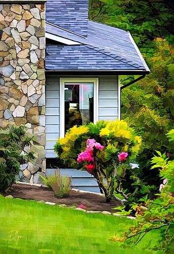 window sandburg dayshapes garden northsaanich vancouverisland britishcolumbia canada