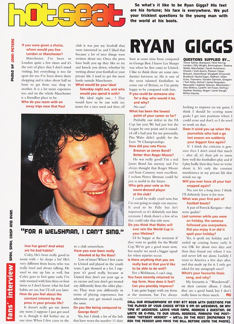 Manchester United - Official Magazine - February 1996 - Page 54