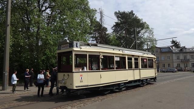 1929 Straßenbahn-Triebwagen TM34 der BVG mit Nr. 3802 von Gebr. Schöndorff A.G. in Düsseldorf (GSD) Werk-Nr. 8905 in 12527 Berlin-Schmöckwitz