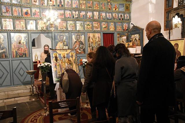 Празнична вечерня с петохлебие - Св. Три Светители 2016 г. Освещаване на икона