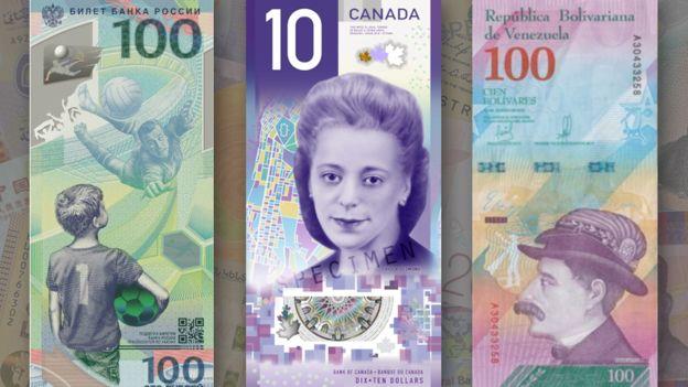 Russia, Canadian and Venezuelan banknote nominees