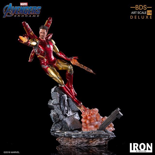 """I Am Iron Man!!"" Iron Studios Battle Diorama 系列《復仇者聯盟:終局之戰》鋼鐵人馬克85 Iron Man Mark LXXXV 1/10 比例決鬥場景雕像作品 普通版/DX版"