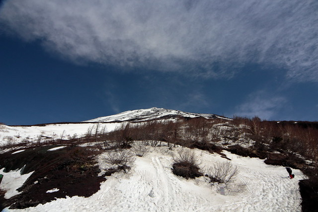 We went up to the fifth station of Mt. Fuji.