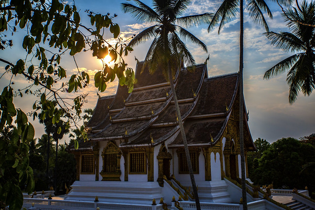 Temple At The Palace In Luang Prabang, Laos