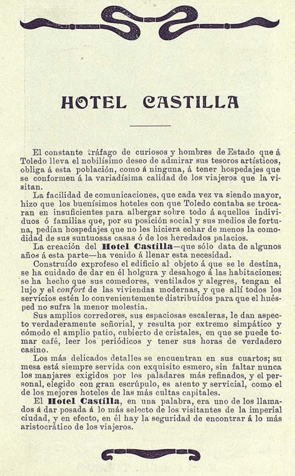 Hotel Castilla. Comercios de Toledo