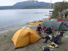Hot Water Beach campsite, Lake Tarawera