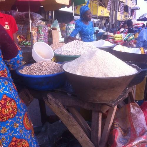yorubamarket rice adelabumarket gari okababa instagramapp square squareformat iphoneography