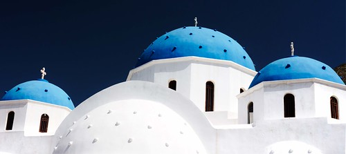 Eglise orthodoxe de Timios Stavros, Perissa, Santorin, Grèce 2019
