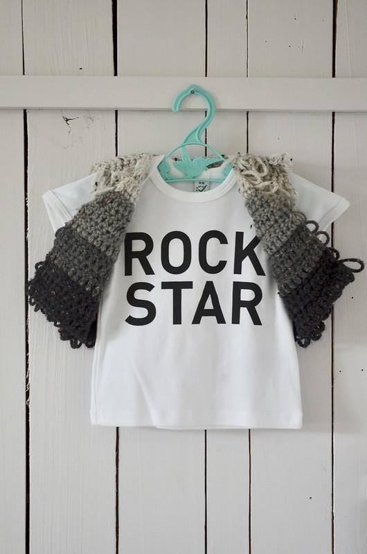 mini rock star - wooly waistcoat