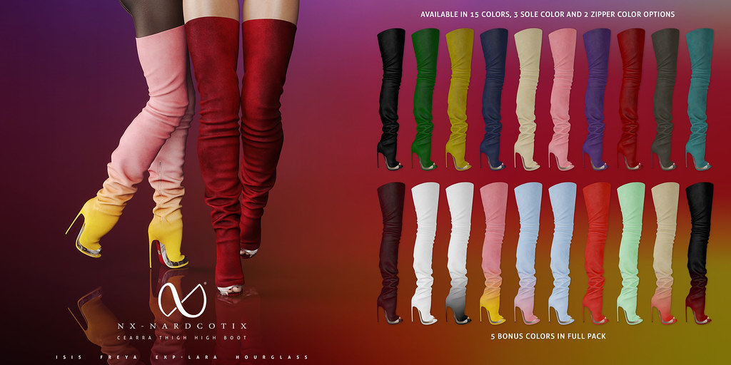NX-Nardcotix Cearra Thigh High Boot - TeleportHub.com Live!