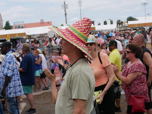 Audience fashion  on Day 8 of Jazz Fest - 5.5.19. Photo by Louis Crispino.