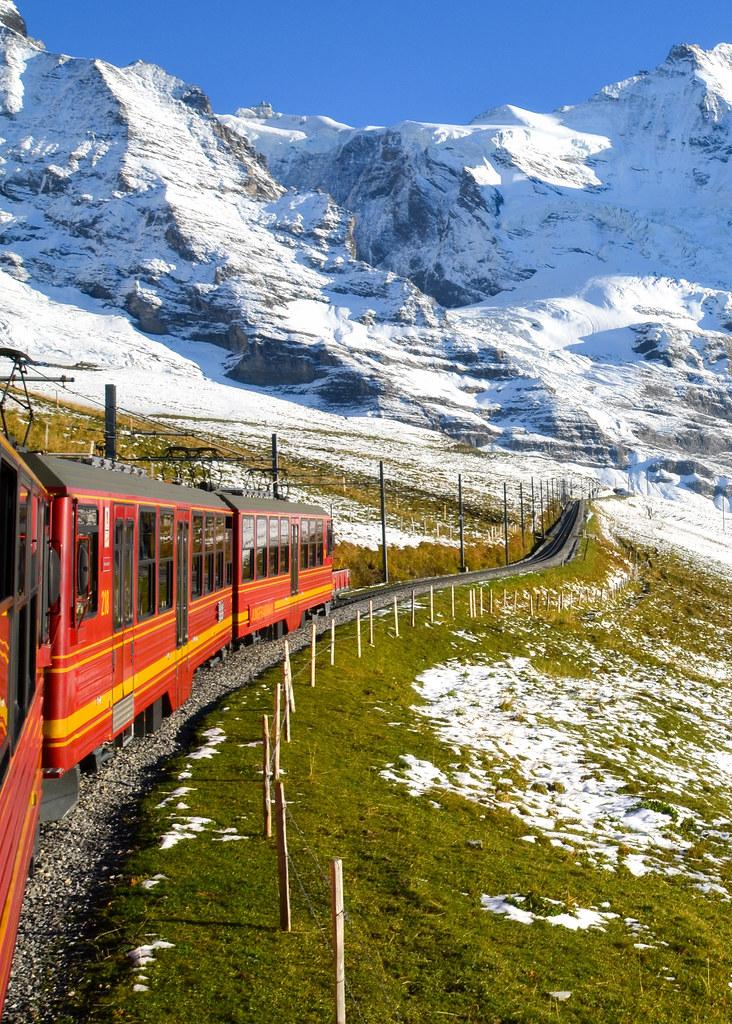 Tren cremallera al Jungfraujoch