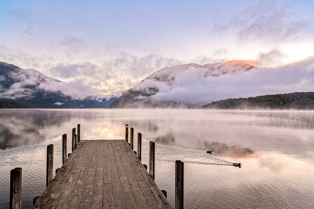Morning at Lake Rotoiti, New Zealand