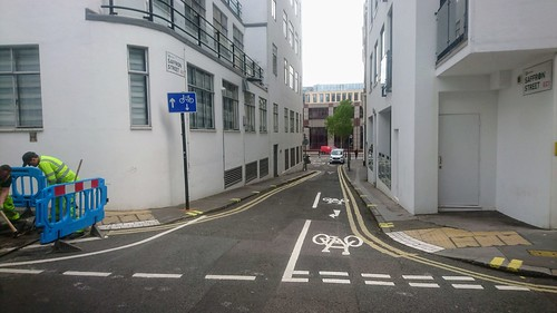 New contraflow in Saffron Street