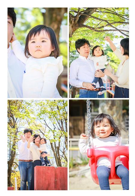 公園で家族写真(出張撮影) 新緑の季節