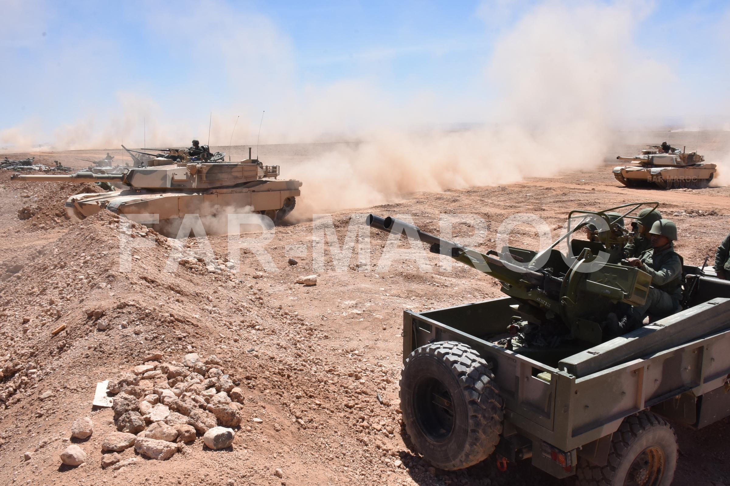 M1A1 SA ABRAMS Marocains / Moroccan M1A1 SA ABRAMS 32854334017_3b6b76d621_o
