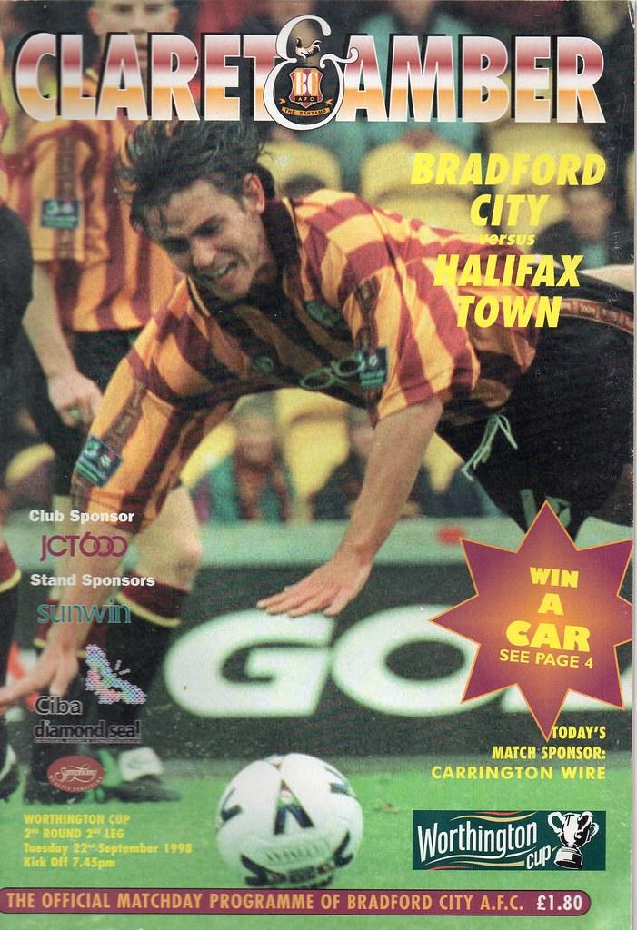 22-09-1998 Bradford City 3-1 Halifax Town (LC) 1