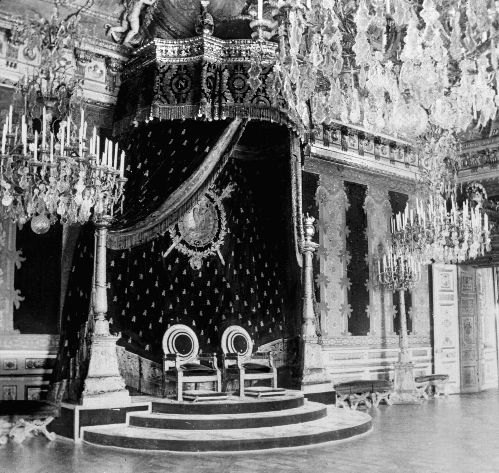1860-е. Тронный зал дворца Тюильри