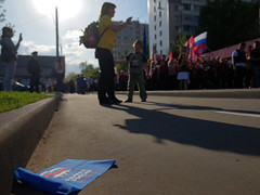 """Rally """"Immortal regiment"""" to the Victory Day. Moscow, Russia"""