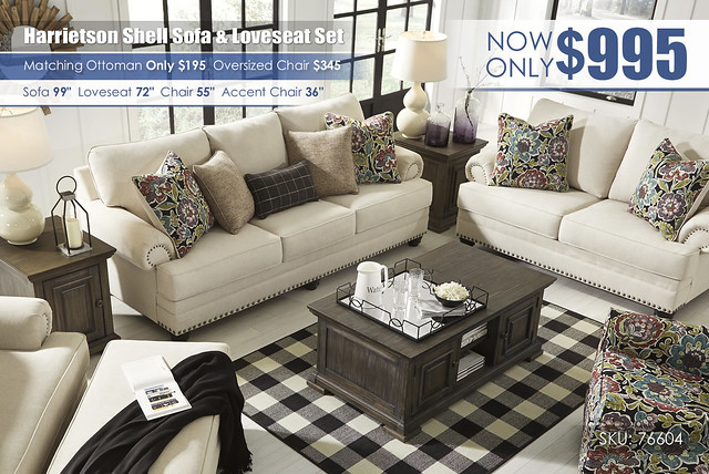 Harrietson Shell Sofa & Loveseat_76604