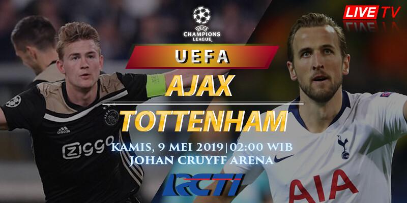 Prediksi Skor Ajax vs Tottenham 9 Mei 2019