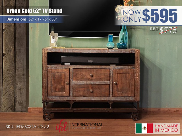 Urban Gold 52 in TV stand_IFD560STAND-52