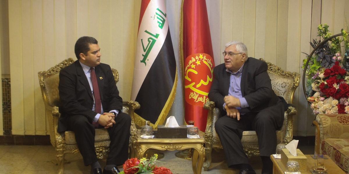 Secretario del Partido Comunista iraquí Raid Jahid Fahmi rechaza bloqueo ilegal contra Venezuela