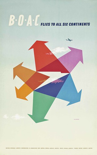 Abram Games, BOAC (1956), Lithograph