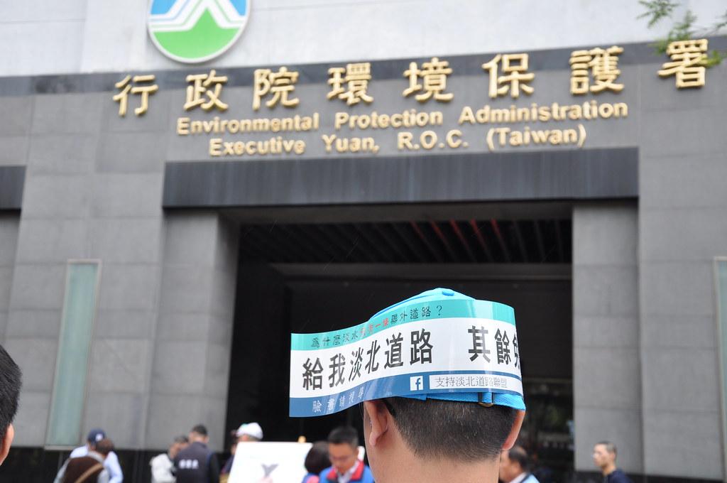 淡水居民表示支持淡北道路的開發。孫文臨攝