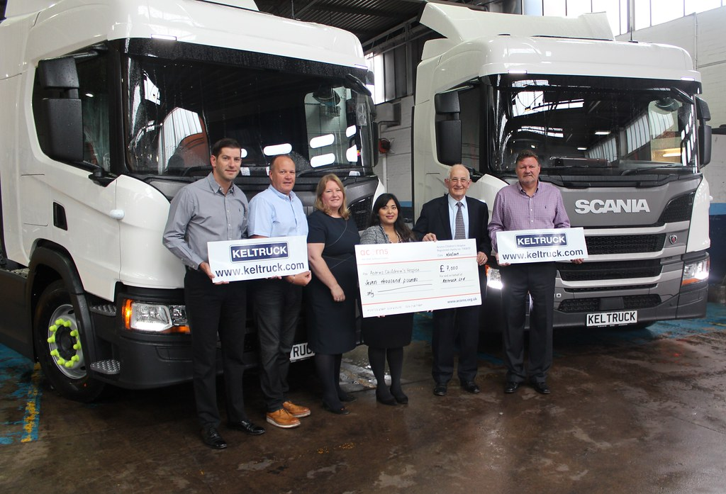 Keltruck Scania supports Acorns Children's Hospice